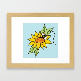 Bumble Bee Kiss Framed Art Print