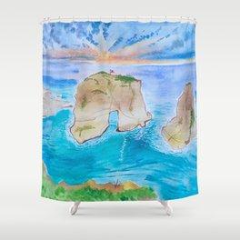 Raouchi Rock Shower Curtain