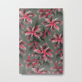 Snake Palms - Light Vintage Coral Metal Print