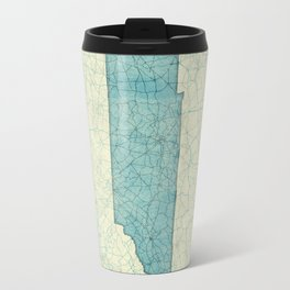 Tennessee State Map Blue Vintage Travel Mug