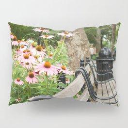 City Bench Flowers Pillow Sham