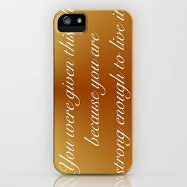Live This Life iPhone Case