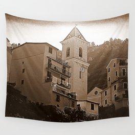 High Noon Riomaggiori Sepia Wall Tapestry