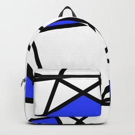 Geometric Modern triangles - white blue Backpack