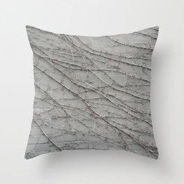 natural wall plant creeper foliage texture pattern Throw Pillow