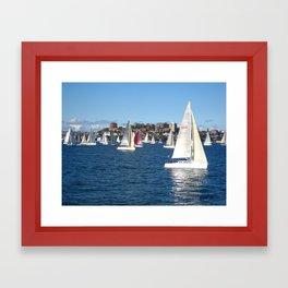 Sailing in Sydney Framed Art Print