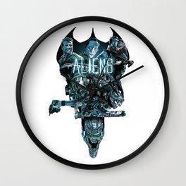 Aliens Illustration Tribute Wall Clock