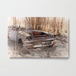 Abandoned Vintage Car  Metal Print
