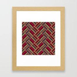 Retro sweater pattern Framed Art Print
