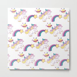 Unicorn Unicorn Rainbow Unicorn Birthday Metal Print
