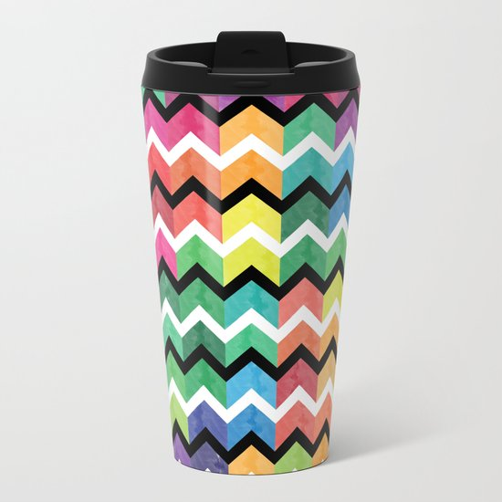Lovely Chevron Metal Travel Mug