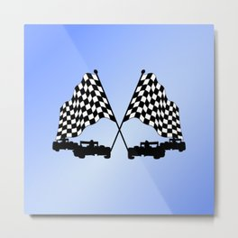 Race Cars Metal Print