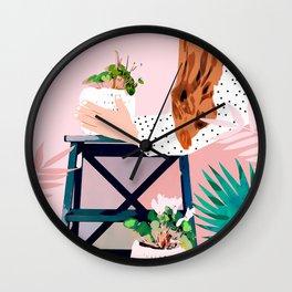 Plant Lady Wall Clock
