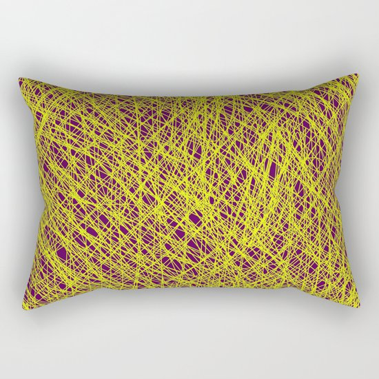Expressive Yellow (Abstract, purple and yellow) Rectangular Pillow