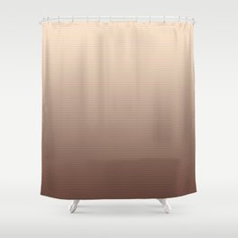 RoseGold Stripes Shower Curtain
