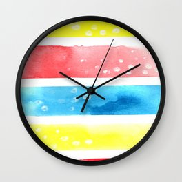 Simple Colors Abstract Watercolor Wall Clock