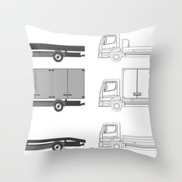 car body Throw Pillow