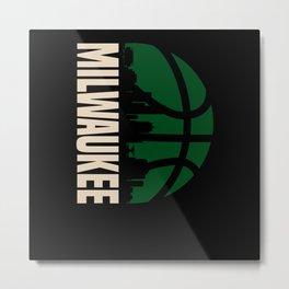 Milwaukee Basketball Funny Gift Metal Print