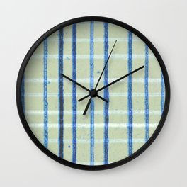 Pencil lines vertical and horizontal Wall Clock
