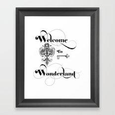 Alice In Wonderland Welcome To Wonderland Framed Art Print