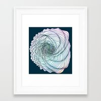 shell Framed Art Prints featuring Shell by Brontosaurus