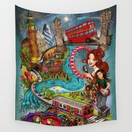 Sounds of London Wall Tapestry