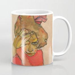 "Egon Schiele ""Kneeling Female in Orange-Red Dress"" Coffee Mug"
