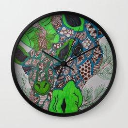 A Giraffe's Love Wall Clock