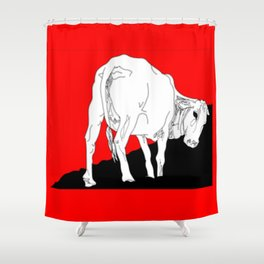 Don't eat me Shower Curtain