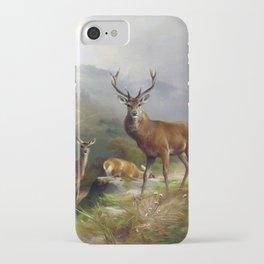 Deer Stag Vintage Painting iPhone Case