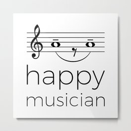 Happy musician (light colors) Metal Print