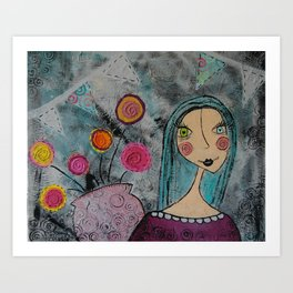 Flowers to Brighten the Day Art Print