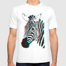 Zebra MEDIUM White Mens Fitted Tee