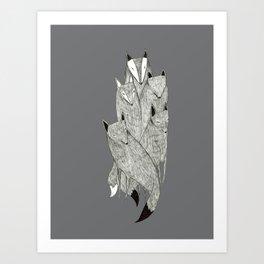 Foxes & Badgers Art Print