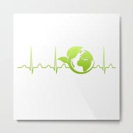 Ecologist Heartbeat Metal Print