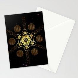Metatron's Cube Platonic Solids Stationery Cards