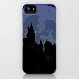 Castle - Blue, Large Moon iPhone Case