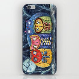 Dia de Muertos Owl Party iPhone Skin