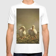 Dancing On Daisies White MEDIUM Mens Fitted Tee