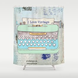 Typewriter #8 Shower Curtain