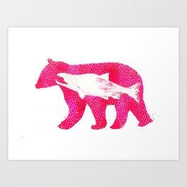 Salmon Bear Art Print