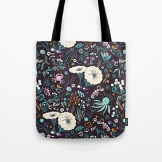 Subsea floral pattern Tote Bag