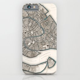 1838 Vintage Map of Venice, Italy iPhone Case