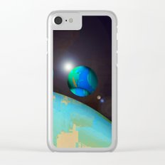 personal planets orbit dying earth Clear iPhone Case