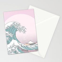 Great Wave Pastel Stationery Cards