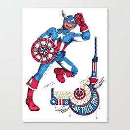 Captain A, the first Avenger Canvas Print