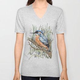 The Kingfisher Unisex V-Neck