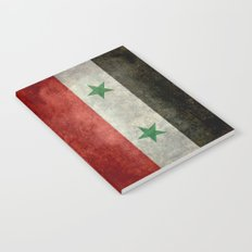 National flag of Syria - vintage Notebook