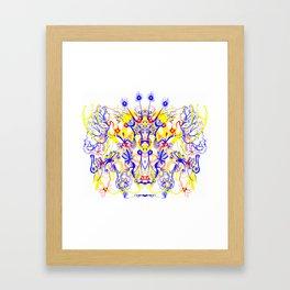 Butterfly with four horns Framed Art Print