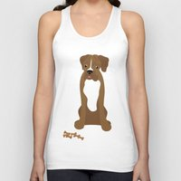 boxer Tank Tops featuring Boxer by digital-couture